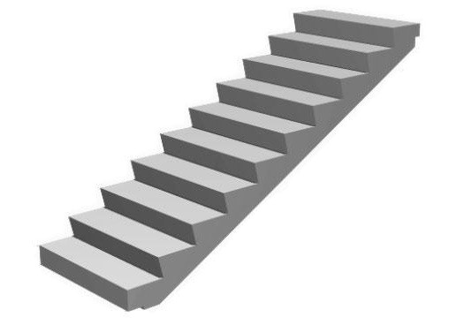 Ступени для лестниц из бетона и лестничный марш лм 1