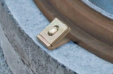 опорное колодезное кольцо с замком