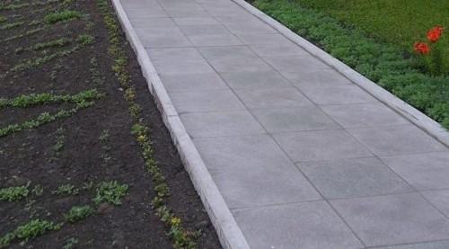 поребрик и бетонная плитка - качественное и не дорогое решение