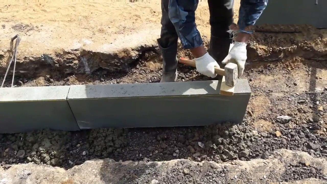 Укладка бордюрного камня своими руками 12
