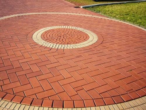 Прямоугольная тротуарная плитка в форме кольца