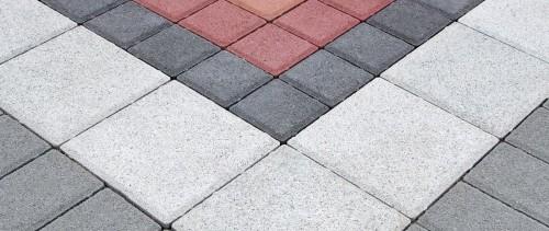 пяти цветная тротуарная плитка