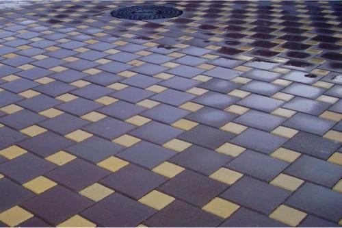 тротуарная плитка мозаикой