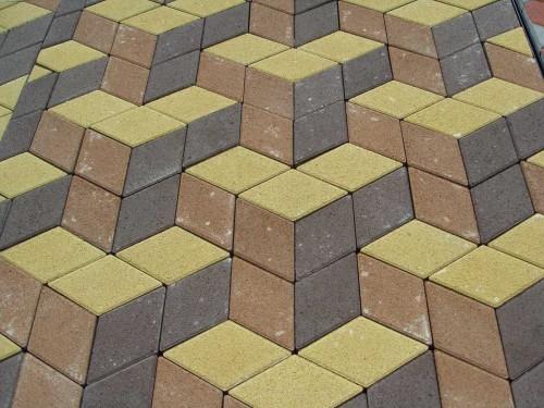 тротуарная плитка ромбом в 3D