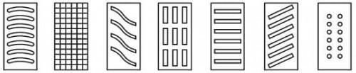 Типовые конструкции водоприемных решеток