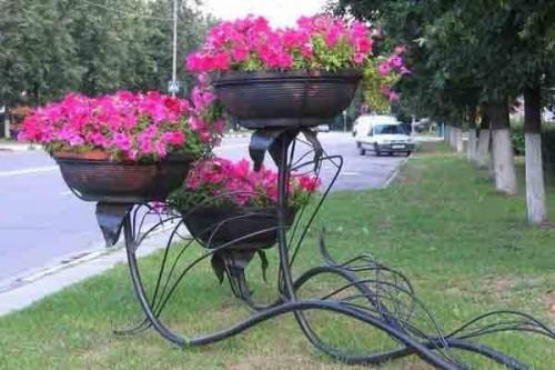 вазоны для цветов из металла