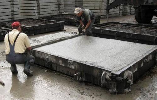 как делают дорожные плиты