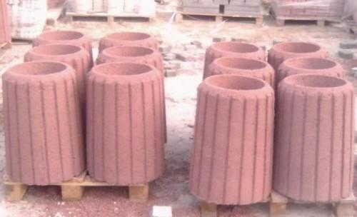 стандартные бетонные урны с разрезами вдоль