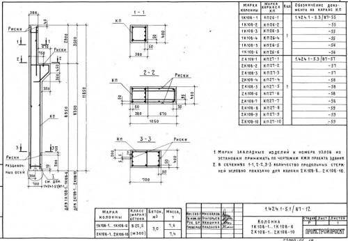 обозначение жби колонн на чертеже проекта
