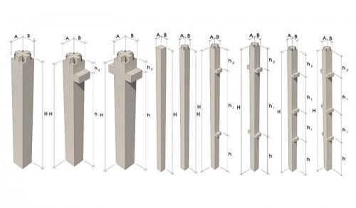 разновидность жб колонн